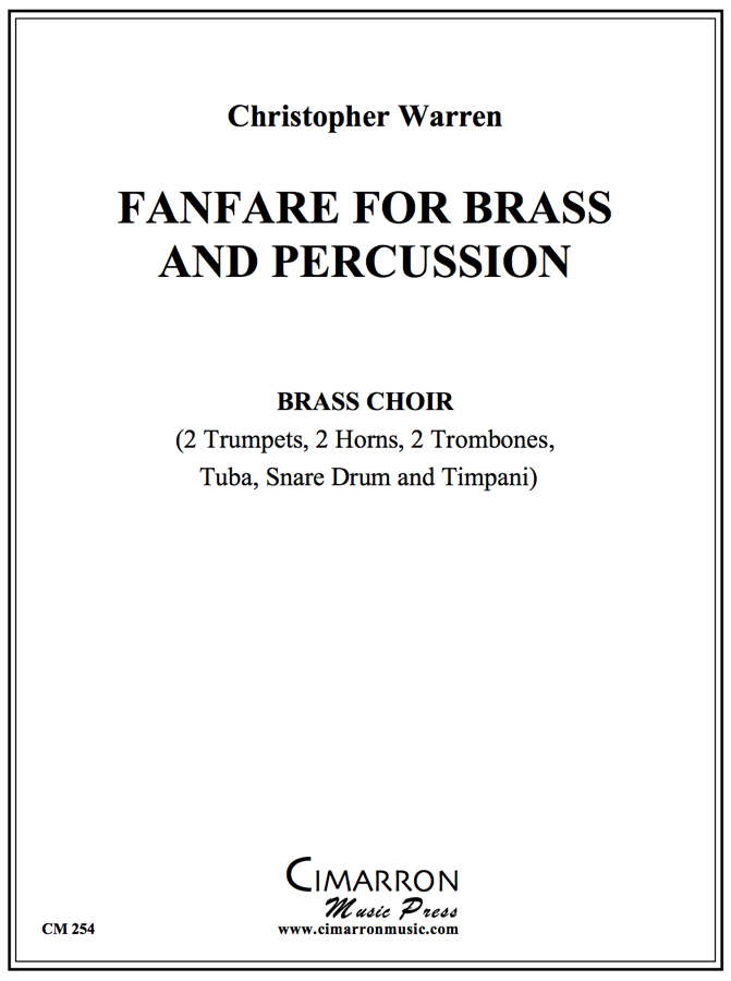 Warren - Fanfare for Brass & Percussion - Brass Ensemble