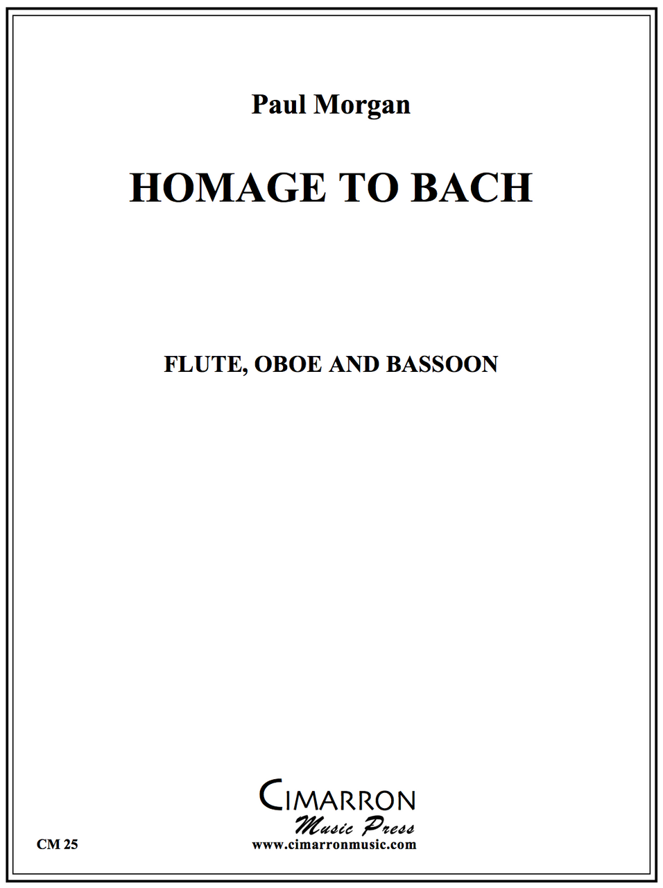 Morgan - Homage to Bach - Flute, Oboe And Bassoon
