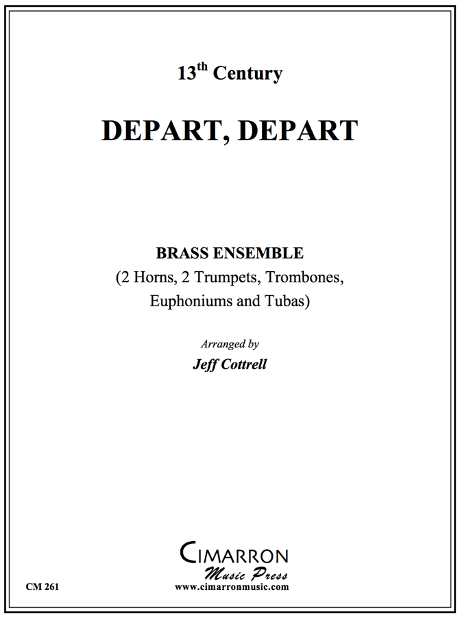 Traditional - Depart, Depart - Brass Ensemble