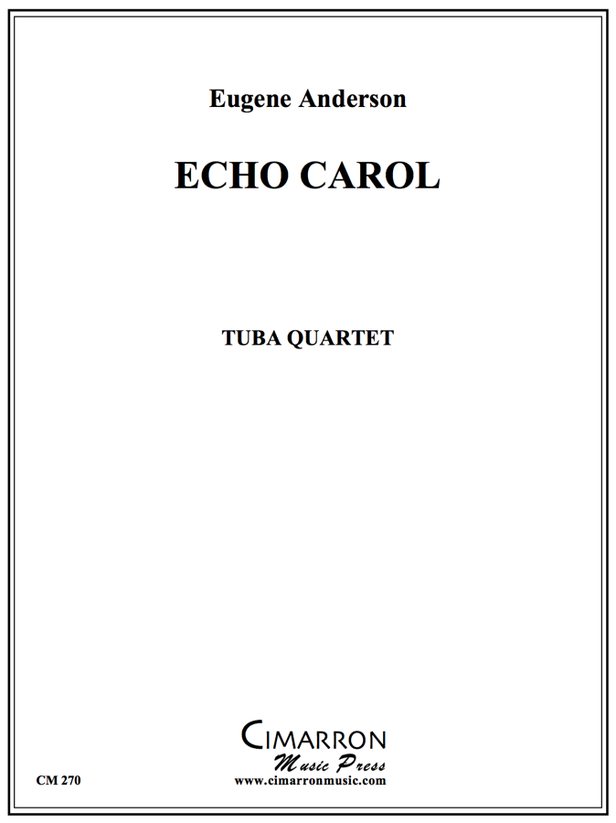 Anderson - The Echo Carol - Tuba Quartet (EETT)