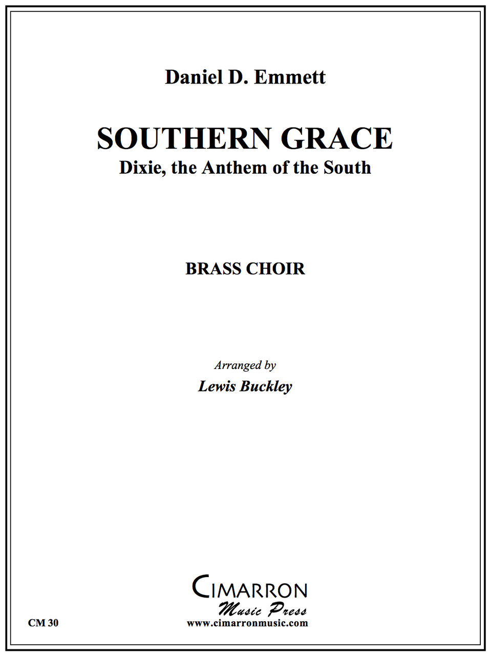 D. Emmett - Southern Grace - Brass Ensemble
