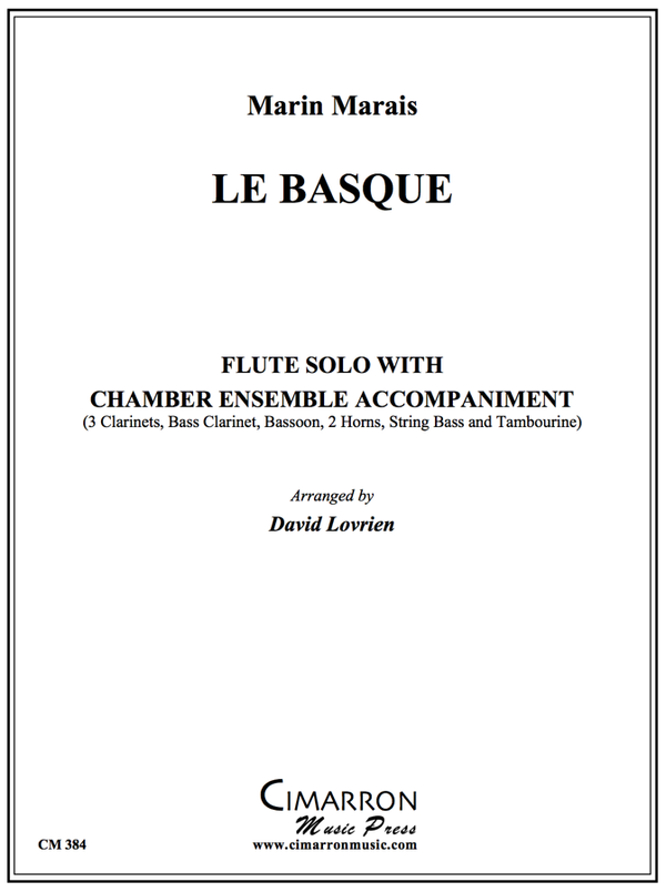 Marais - Le Basque - Flute and Chamber Ensemble