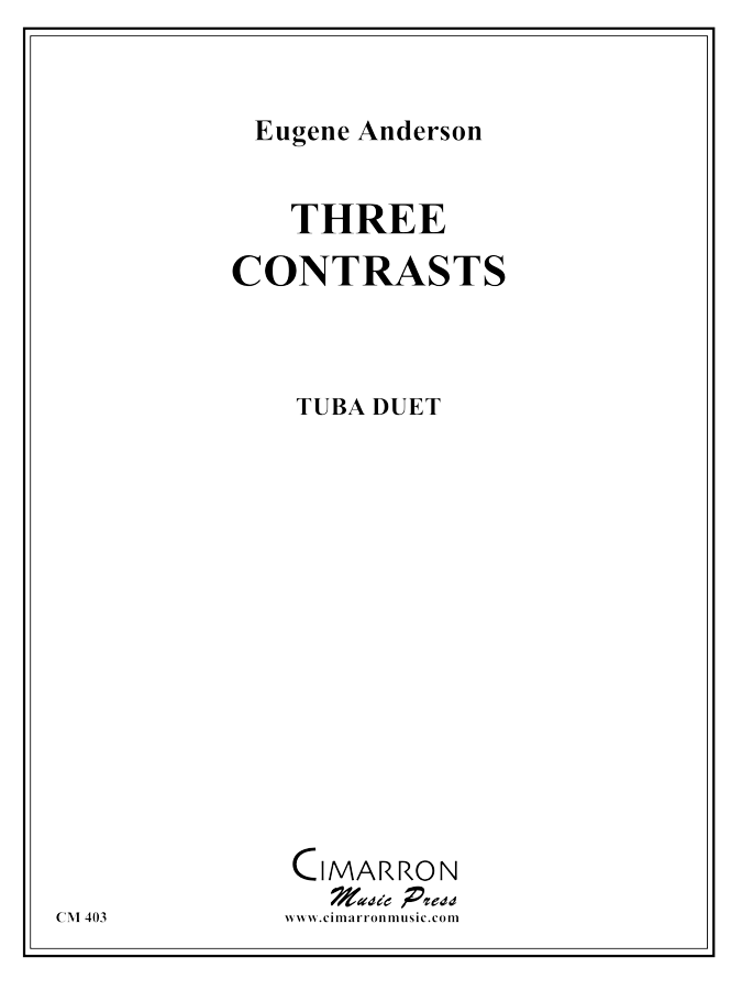 Anderson - Three Contrasts for Two Tubas - Euphonium/Tuba Duet