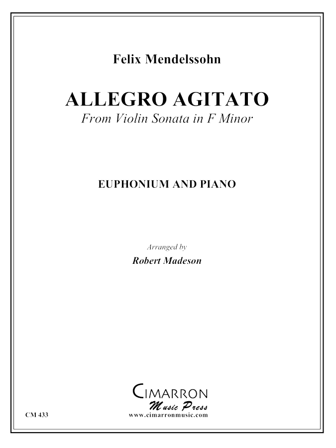 Mendelssohn - Allegro Agitato in f minor - Euphonium and Piano