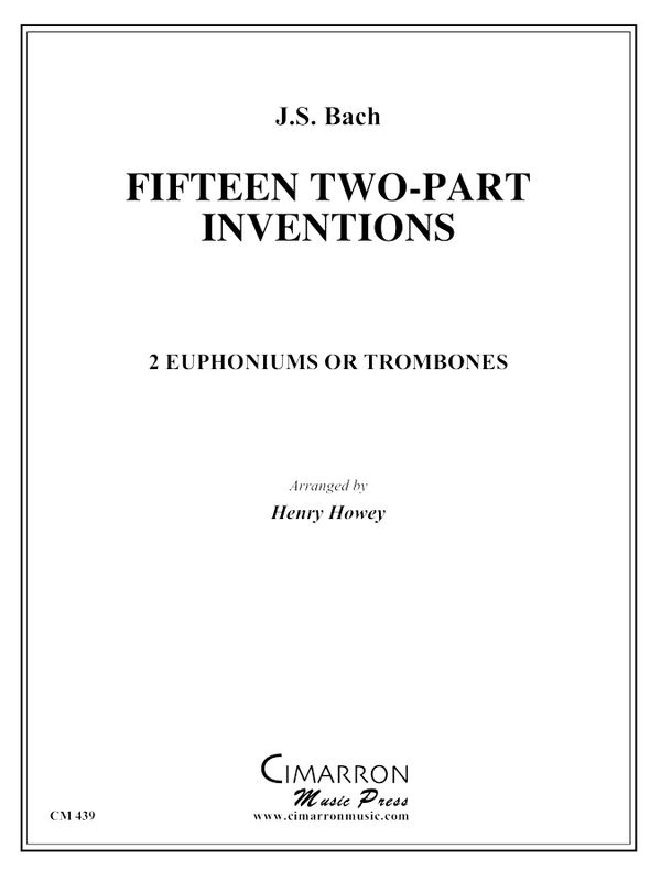 Bach, J S - 15 Two-Part Inventions - Euphonium or Trombone Duet