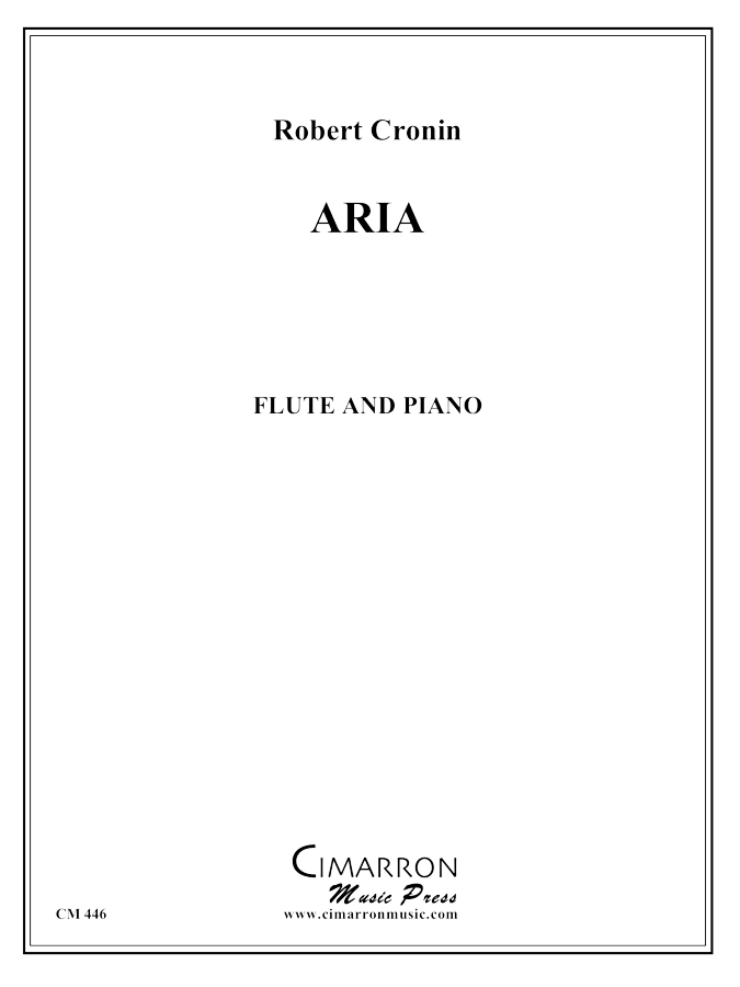 Cronin, Robert - Aria - Flute and Piano