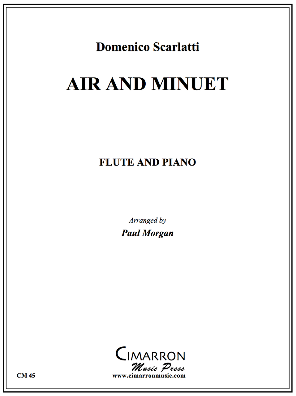 Scarlatti - Air and Minuet - Flute And Piano