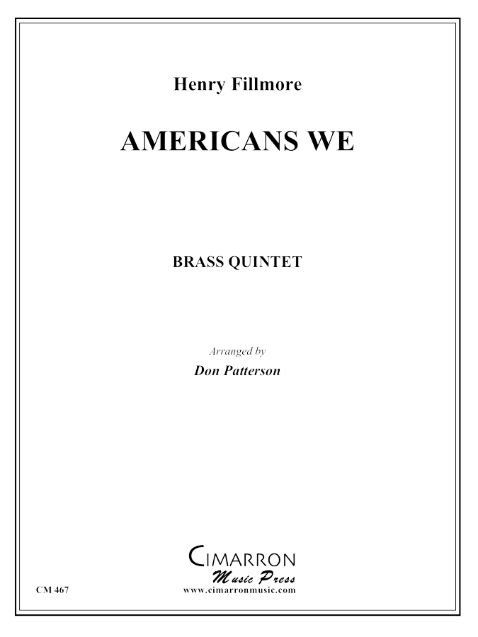 Fillmore - Americans We - Brass Quintet