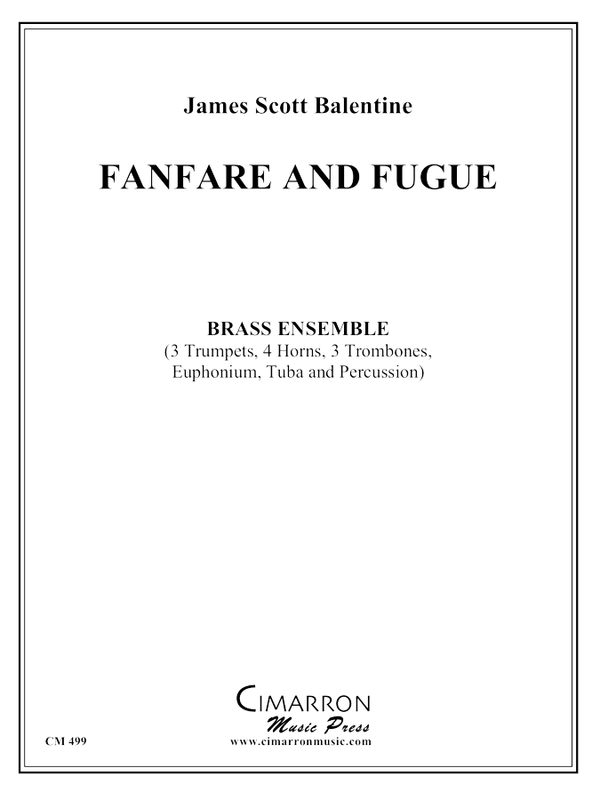 Balentine, James - Fanfare and Fugue - Brass Ensemble