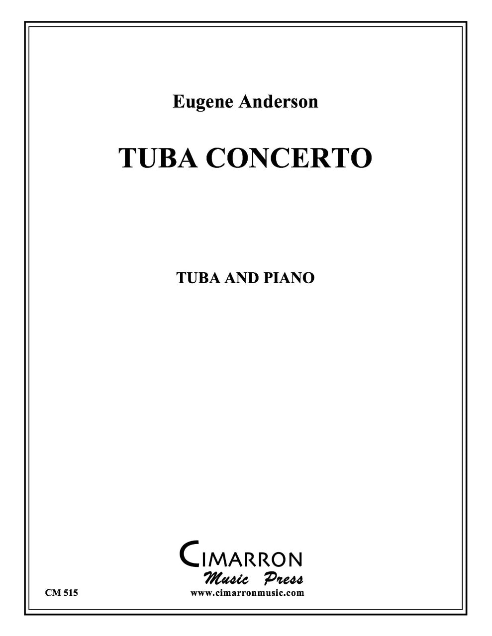 Anderson, Eugene - Tuba Concerto No. 1 in B Minor - Tuba and Piano