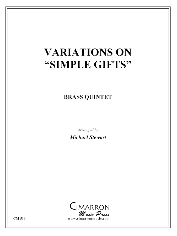 "Traditional - Variations on ""Simple Gifts"" - Brass Quintet"