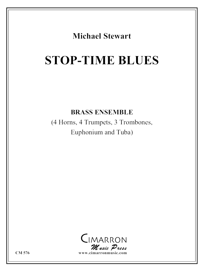 Stewart - Stop-Time Blues - Brass Ensemble