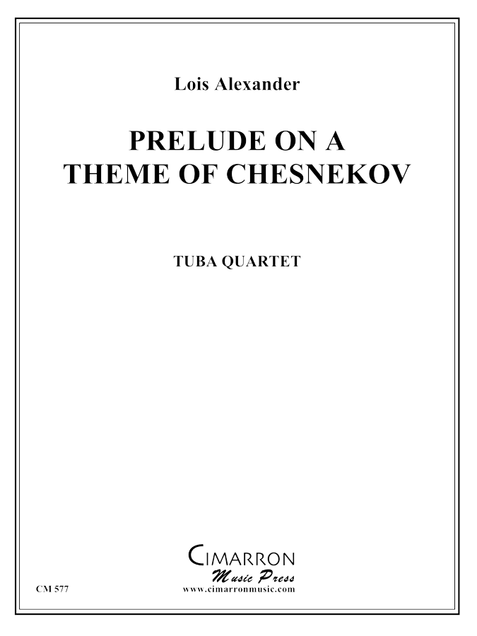 Tchesnokov - Prelude on theme of Chesnokov - Tuba Quartet (EETT)