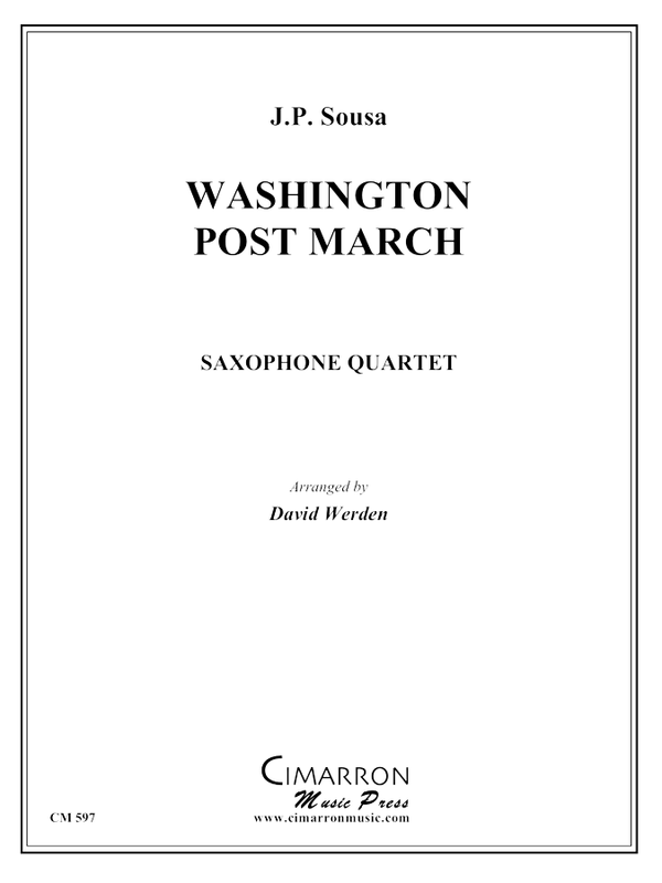Sousa - Washington Post March - Saxophone Quartet (SATB)