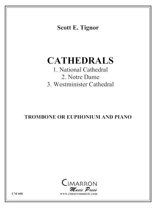 Cathedrals for Euphonium or Trombone or Euphonium and Piano