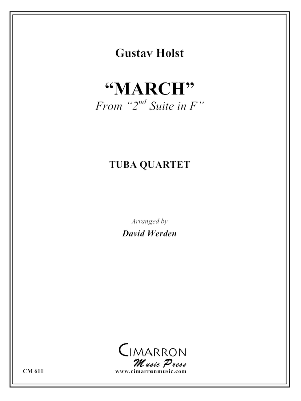 Holst - March from Military Suite in F - Tuba Quartet (EETT)