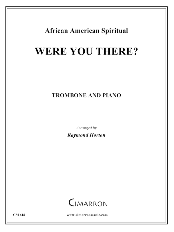 Traditional - Were You There? - Trombone and Piano