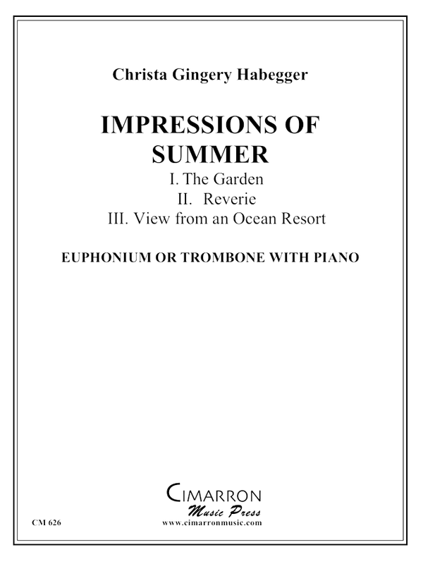 Habegger - Impressions of Summer - Trombone or Euphonium and Piano