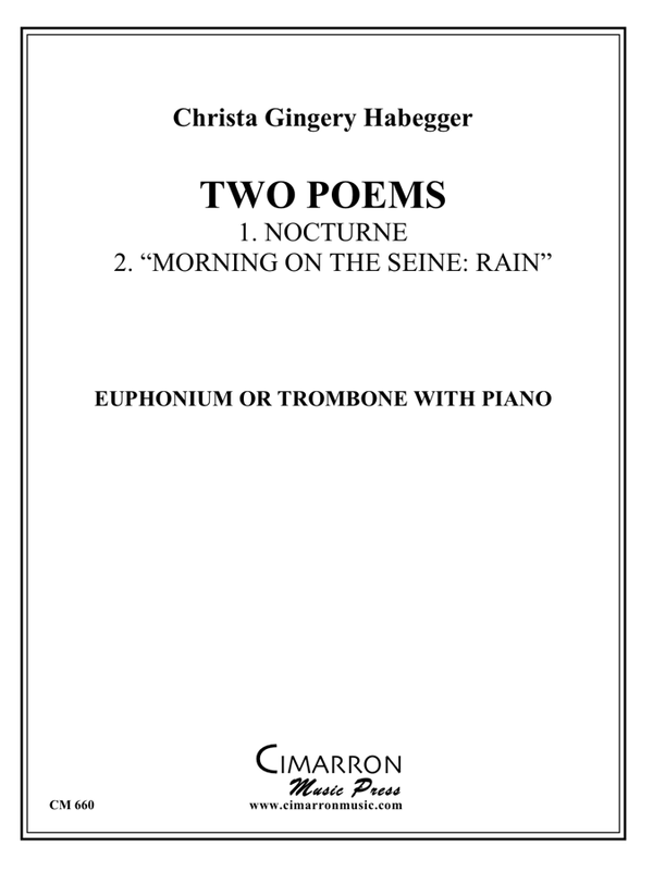 Habegger - Two Poems for Trombone or Euphonium and Piano