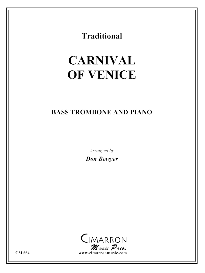 Traditional - Carnival of Venice - Bass Trombone and Piano