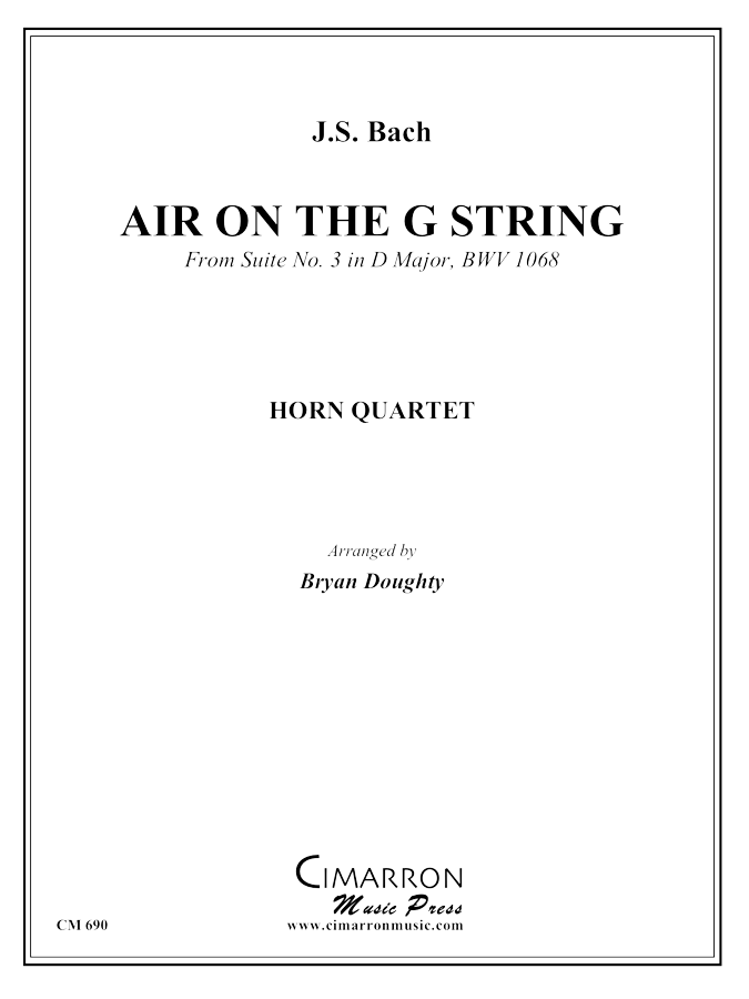 Bach, J S - Air on the G String - Horn Quartet