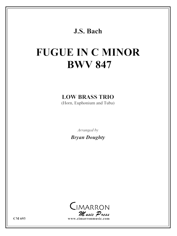 Bach, J S - Fugue in C Minor - Brass Trio