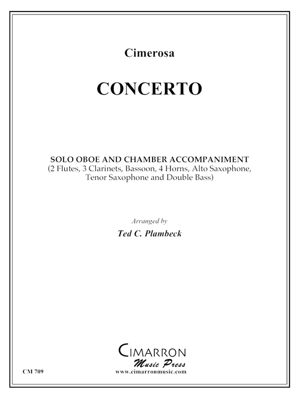 Cimerosa - Concerto for Oboe - Oboe and Chamber accompaniment