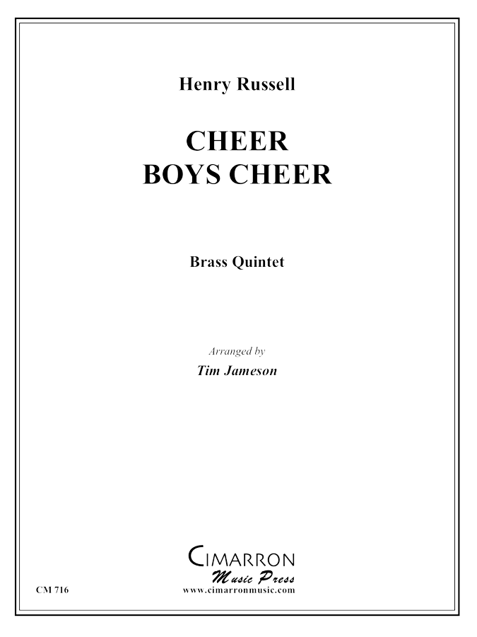 Russell - Cheer Boys, Cheer - Brass Quintet