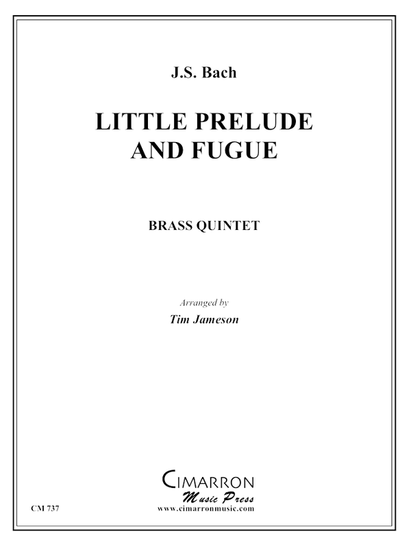Bach, J S - Little Prelude and Fugue in G - Brass Quintet