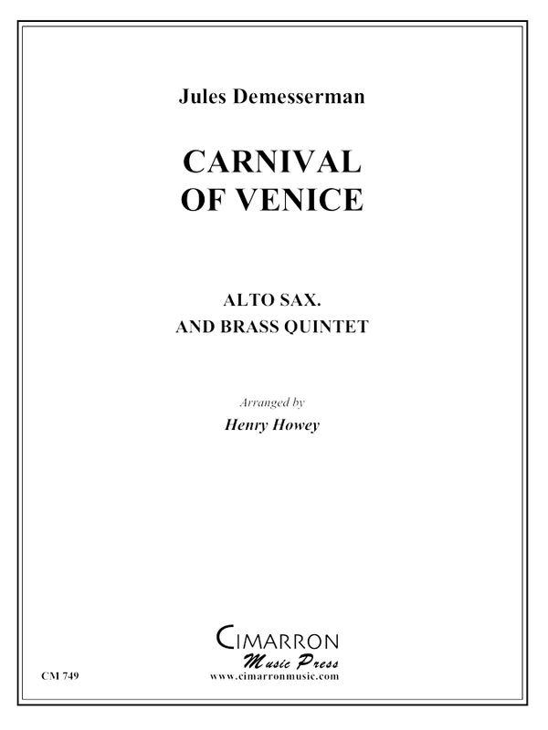 Demesserman/Hemke - Carnival of Venice - Alto Saxophone and Brass Quintet