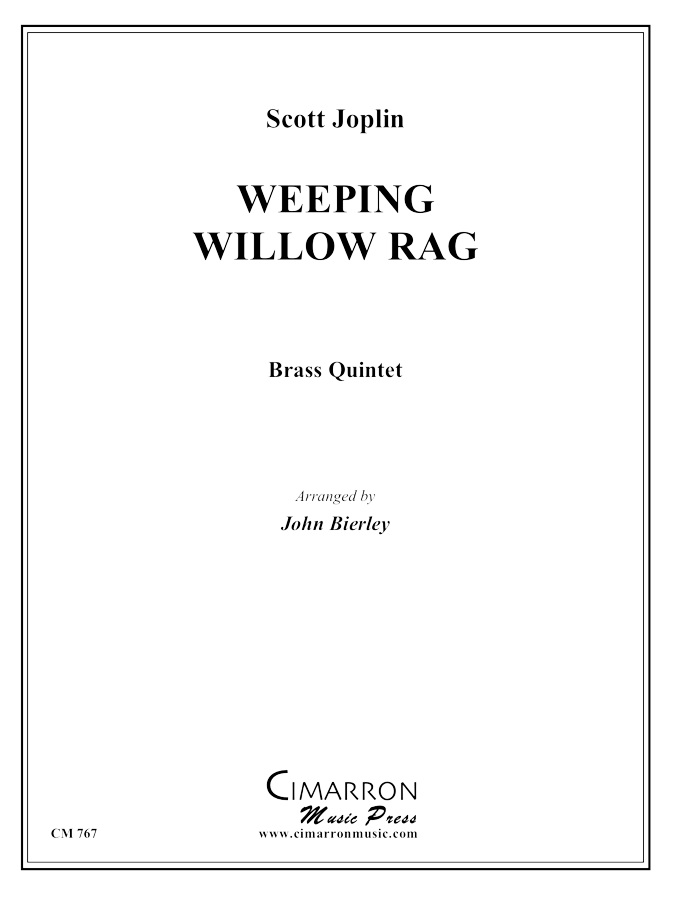 Joplin - Weeping Willow Rag - Brass Quintet