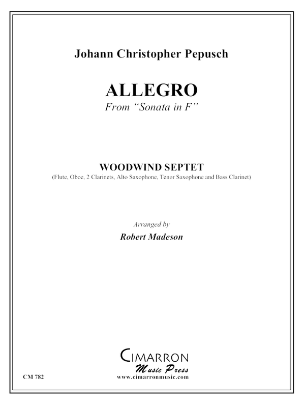 Pepusch - Sonata in F (Allegro) - Woodwind Ensemble