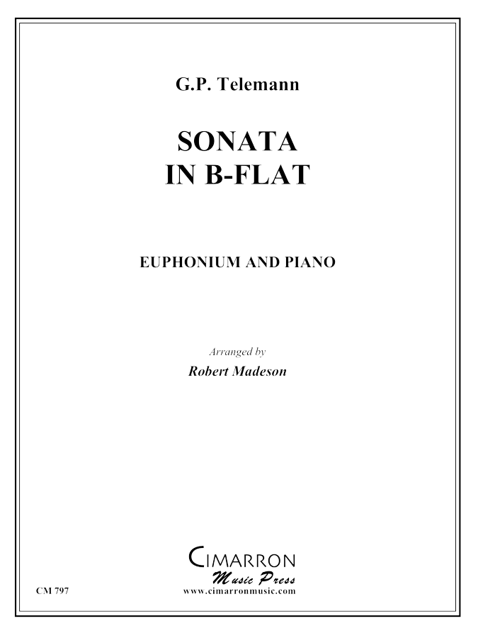 Telemann - Sonata in Bb - Euphonium and Piano