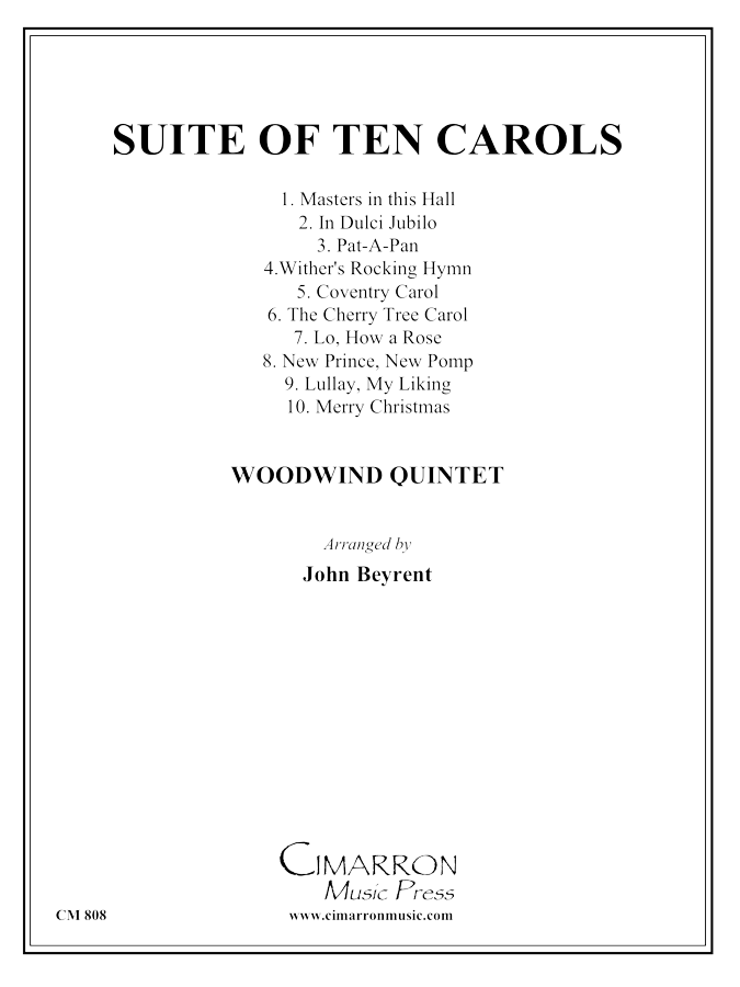 Various - Suite of Ten Carols - Woodwind Quintet