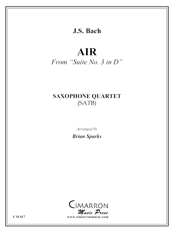 Bach - Air from Suite in D Major - Saxophone Ensemble