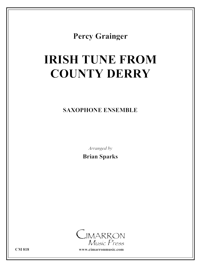 Grainger, P - Irish Tune from County Derry - Saxophone Ensemble