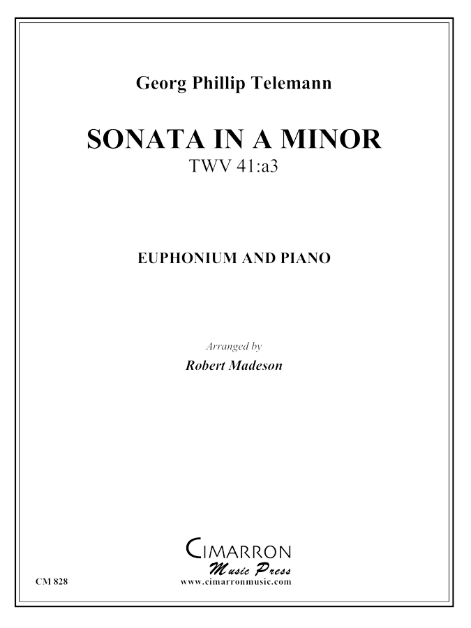 Telemann - Sonata in A Min - Euphonium and Piano