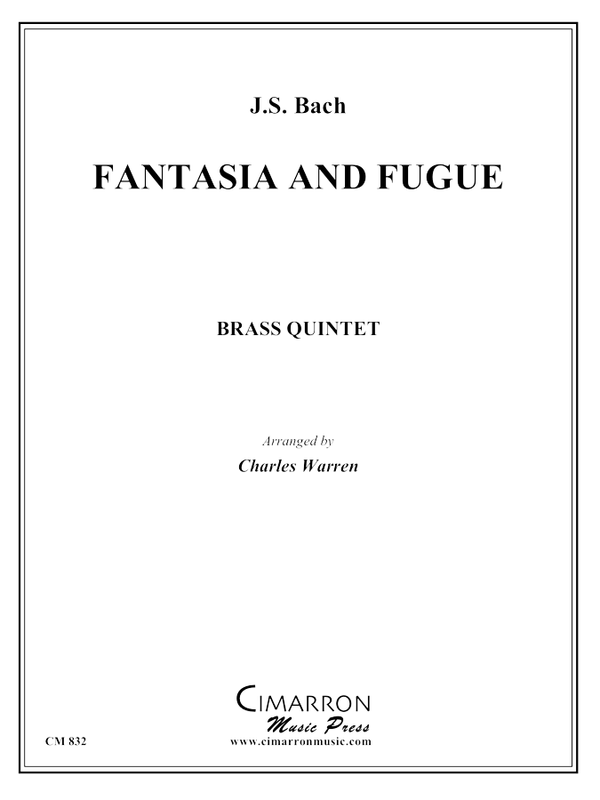 Bach, J S - Fantasia and Fuga - Brass Quintet