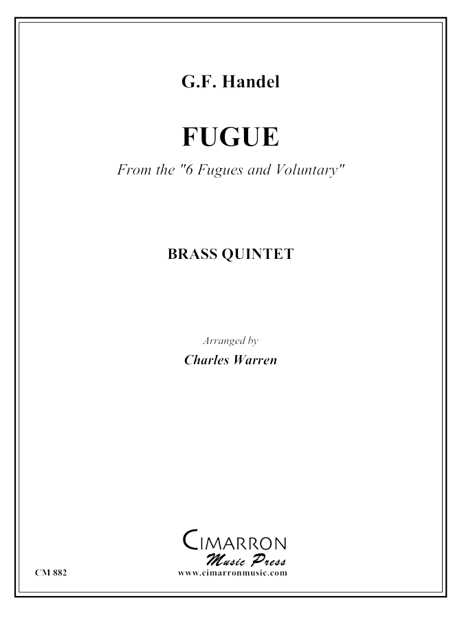 Handel - Fugue in B dur from 6 Fugues or Voluntaries - Brass Quintet