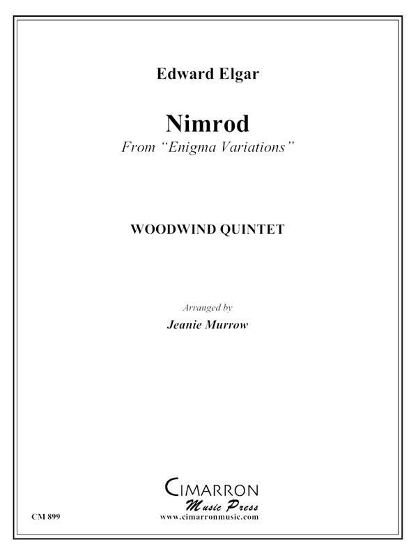 Elgar, E - Nimrod from Enigma Variations - Woodwind Quintet