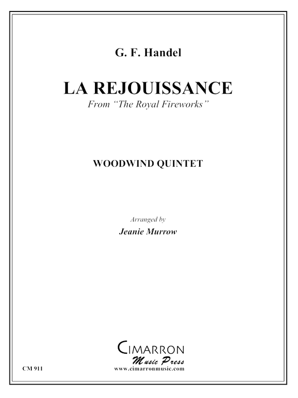 Handel - La Rejouissance from Royal Fireworks - Woodwind Quintet