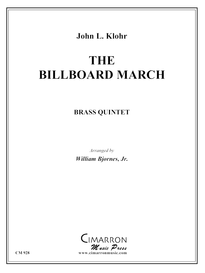 Klohr - The Billboard March - Brass Quintet