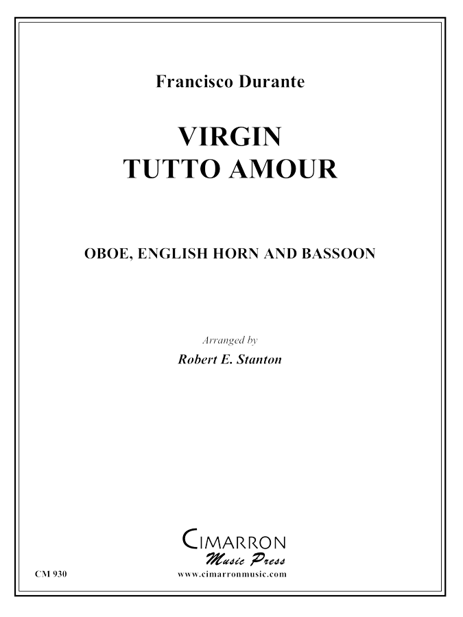 Durante - Virgin Tutto Amour - Woodwind Trio