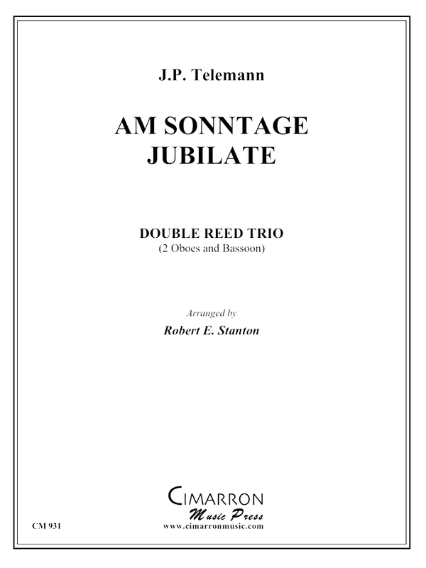 Telemann - Am Sonntage Jubilate - Woodwind Trio
