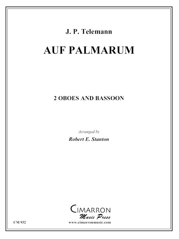 Telemann - Auf Palmarum - Woodwind Trio