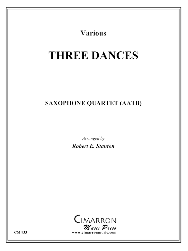 Strauss/Lanner - Three Dances - Saxophone Quartet (SATB)