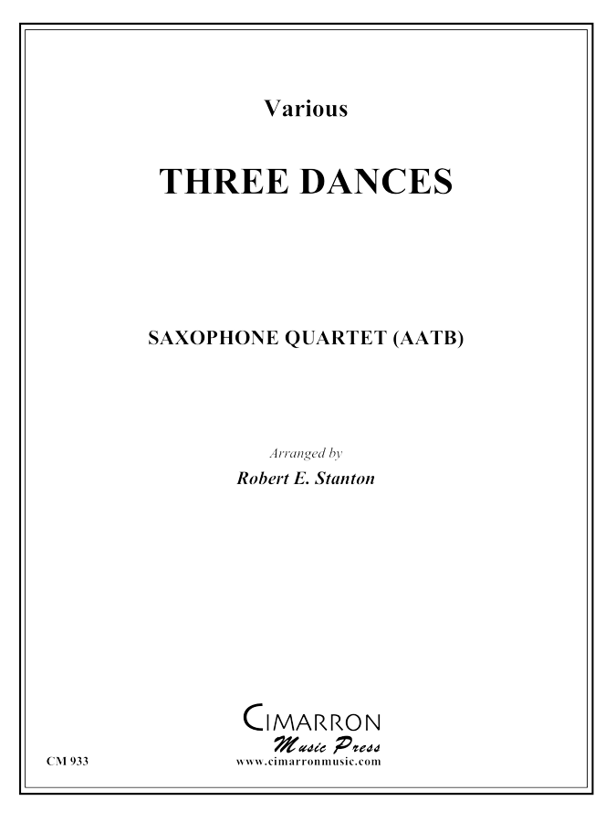 Strauss/Lanner - Three Dances - Saxophone Quartet(SATB)