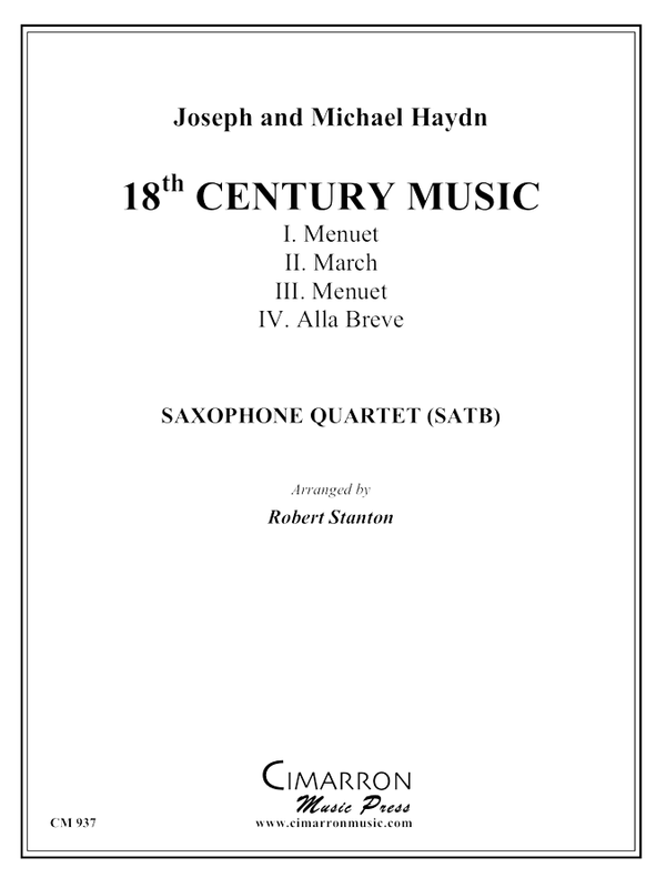 Haydn - 18th Century Music - Saxophone Quartet (SATB)