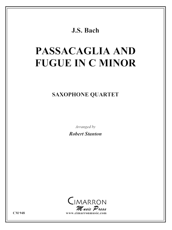 Bach, J S - Passacaglia and Fugue in C Min - Saxophone Quartet(SATB)