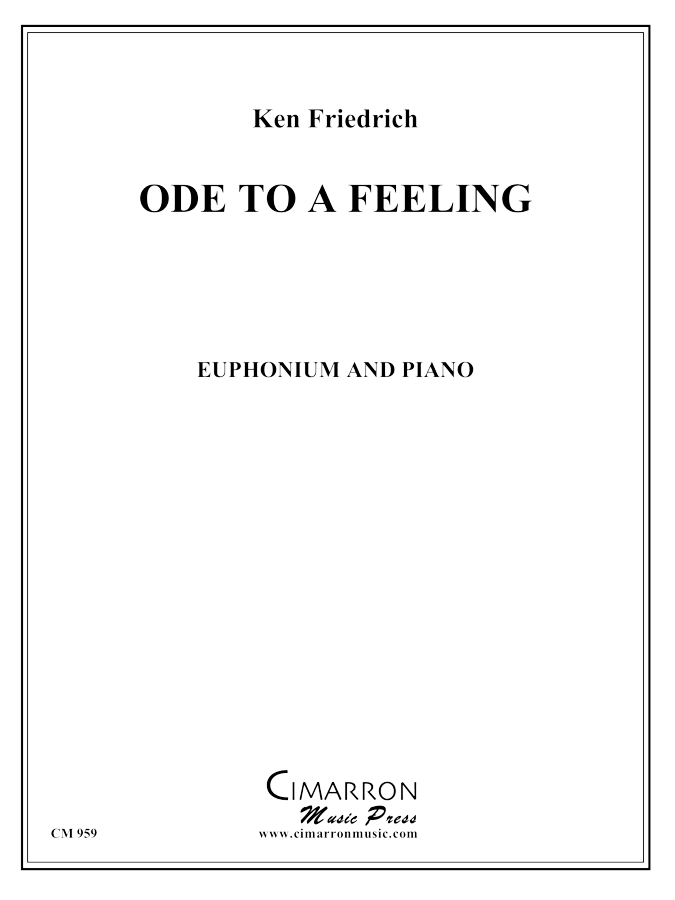 Friedrich - Ode to a Feeling - Euphonium and Piano